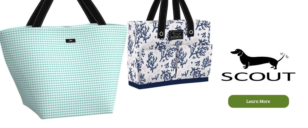 Scout bags and totes at Le's Isle Rose in East Greenwich RI