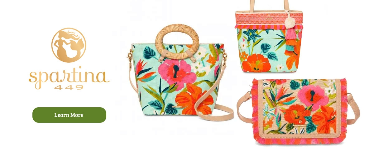 Spartina 449 handbags and fashion accessories at Le's Isle Rose